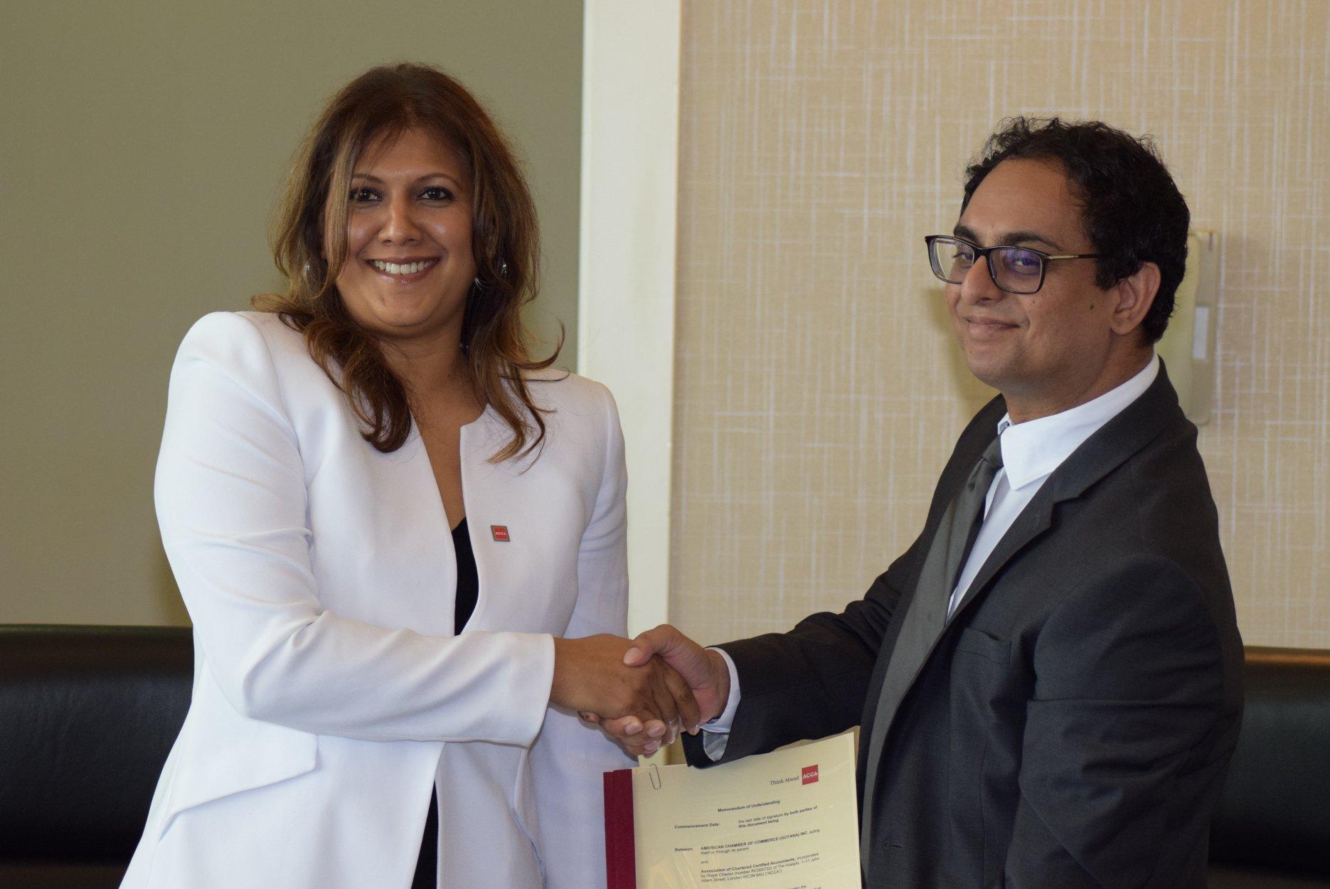 MOU Signing – AMCHAM Guyana Inc. and ACCA Caribbean