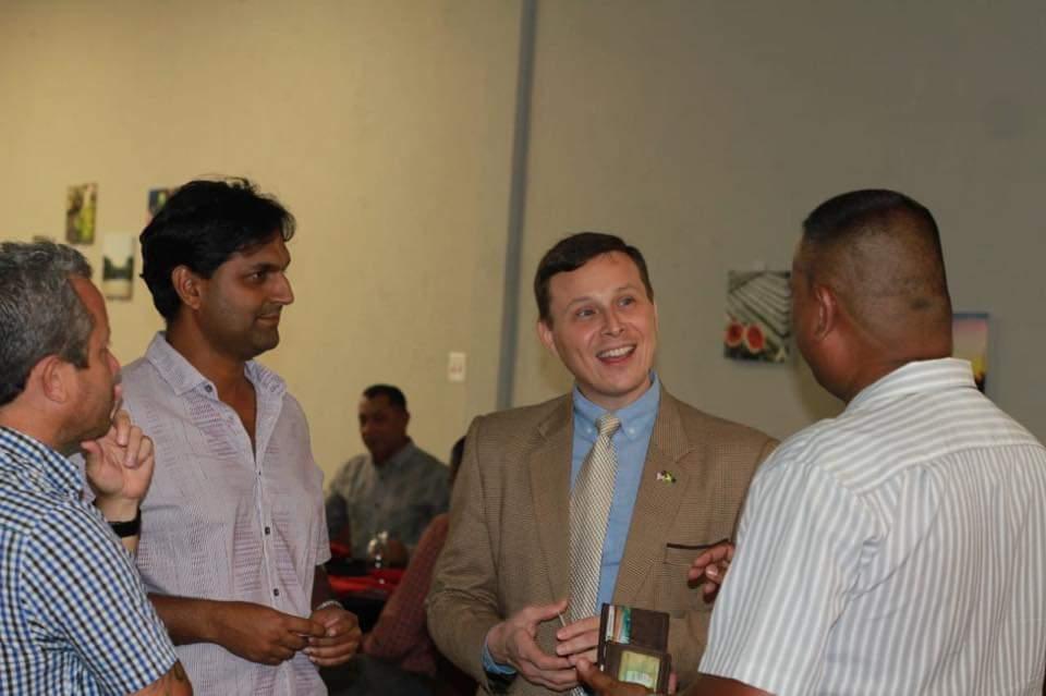 amcham members with guest speaker Mr. Terry Steers-Gonzalez
