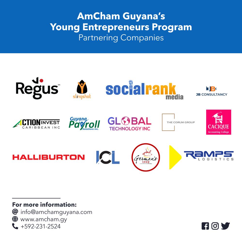 AmCham Guyana's Young Entrepreneur's Program - Partnering Companies