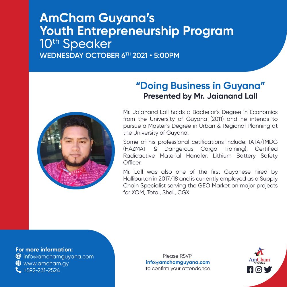 AmCham Guyana's Youth Entrepreneurship Program